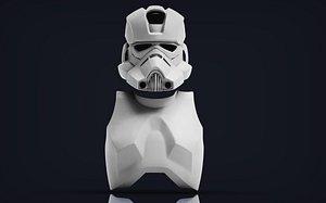3D model Clone Engineer Phase 2 helmet and body armor 3D print model