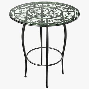real café table 3D model