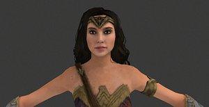 3D wonder woman -