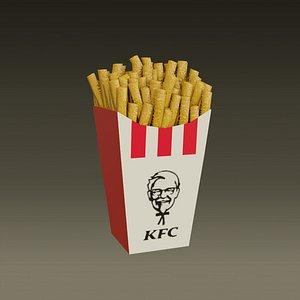 3D model KFC-KentuckyFriedChicken-French fries -2021