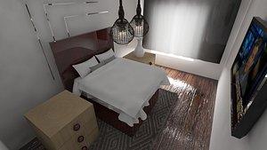 3D bedroom bed room