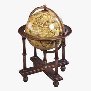 stylized medieval globe 3D model
