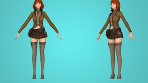 3D female character agent