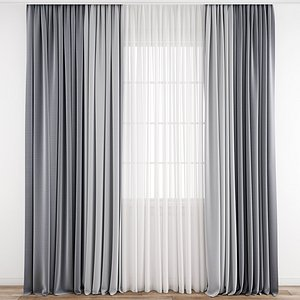 3D model Curtain 208