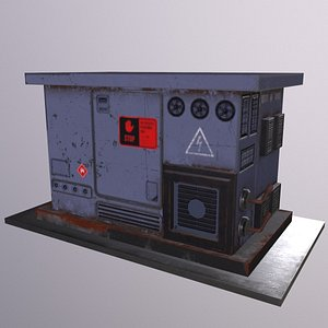 Electrical Box - Transformer Game Ready Low Poly 3d Model Low-poly 3D model 3D model