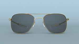 Sunglasses Aviator Gold Polarized 3D