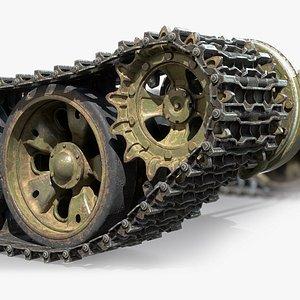 3D model chassis soviet tank t-55