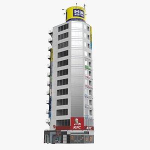 Tokyo Japanese Modern Commercial Building 3D model
