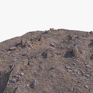 3D ground rock 11 model