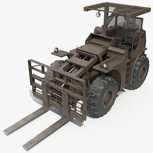 3D Military Forklift