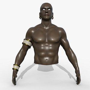 3D Jin Male Torso model