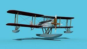 Airco DH-4 V05 Bush Seaplane 3D