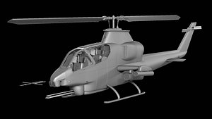 Bell Ah-1s Mod - Cobra Attack Helicopter 3D