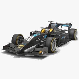 Formula 2 Dallara F2 2021 Carbon 3D model