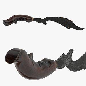 3D Kujang Knife