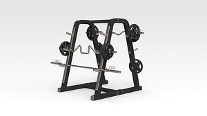 Barbell Stand 3D model