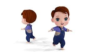 3D Cartoon Boy Full Rigged