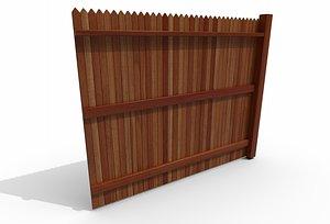 Picket Fence 3D model