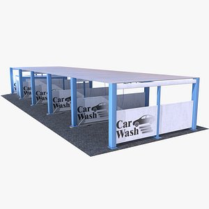 3D self-service car wash station