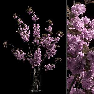 vase branches japanese cherry 3D model