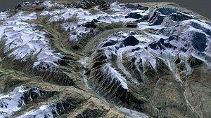 3D Mountain landscape Muztagh Ata China