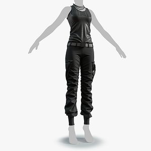 outfit cloth female 0001-low model