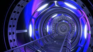 3D Space tunnel with vortex effect