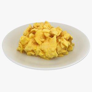 3D scrambled eggs model
