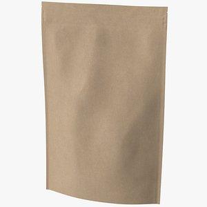 3D zipper kraft paper bag model