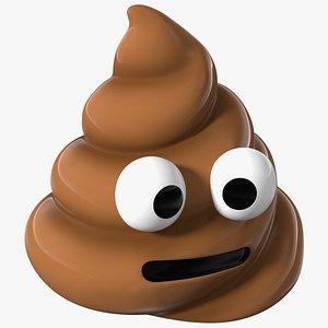 3D Neutral Face Poop Emoji Smile