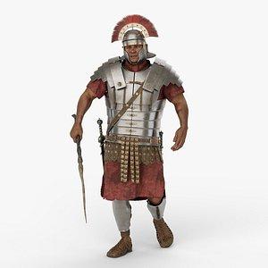 3D Roman legionnaire v03 model
