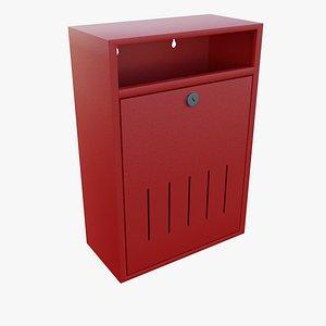 box mail mailbox 3D model