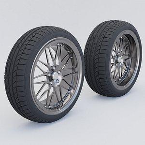 3D Car wheels model