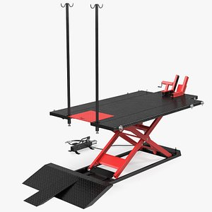 3D atv lift table rigged