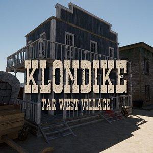 3D Klondike - Far West Town - Blender and FBX model