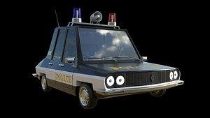 Cartoon Police Car Toros 3D