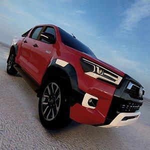 3D model Toyota Hilux Double Cab Invincible 2020 3D
