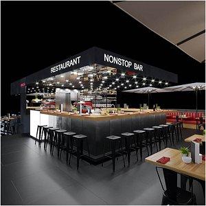 Coffee Restaurant Fitout 3D model