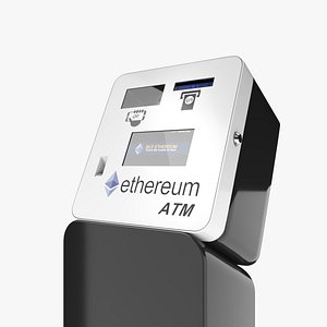 Ethereum Cryptocurrency ETH ATM 3D