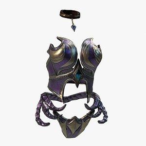 3D Elf Female Body Armor Set