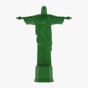 Christ the Redeemer Statue 3D Print 3D model