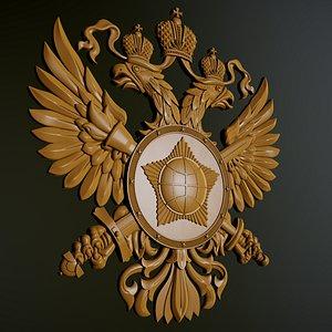 emblem foreign intelligence service 3D