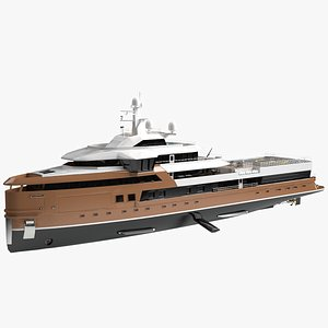 3D model La Datcha Luxury Explorer Yacht Dynamic Simulation