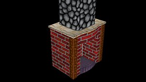 Wood burning furnace 3D model