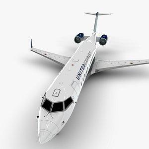 express bombardier crj 200 3D model