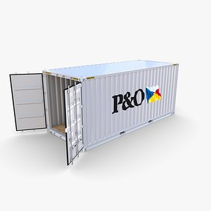 20ft Shipping Container PO v2 3D model