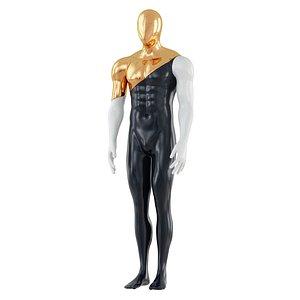 faceless mannequin gold 135 3D model