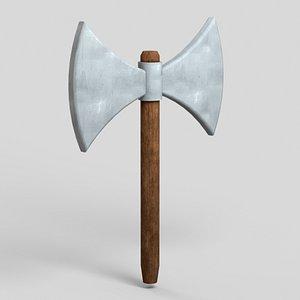 3D medieval axe