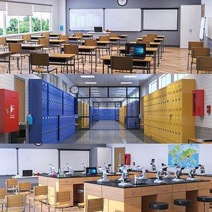 School Interior Collection model
