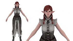 Warrior Woman Clothed 3D